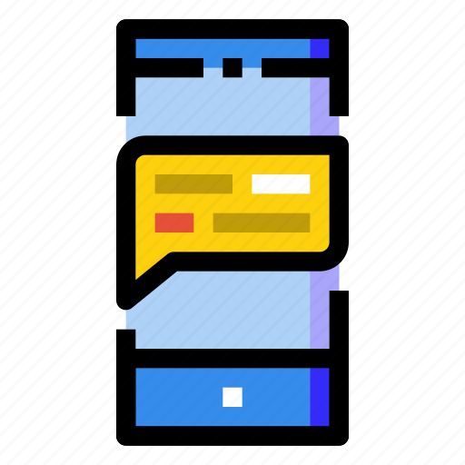 box, chat, message, mobile, phone, screen, smartphone icon