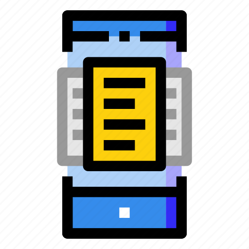 document, file, mobile, online, paper, phone, smartphone icon