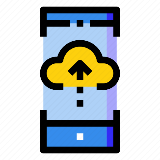 cloud, computing, internet, mobile, online, phone, smartphone icon
