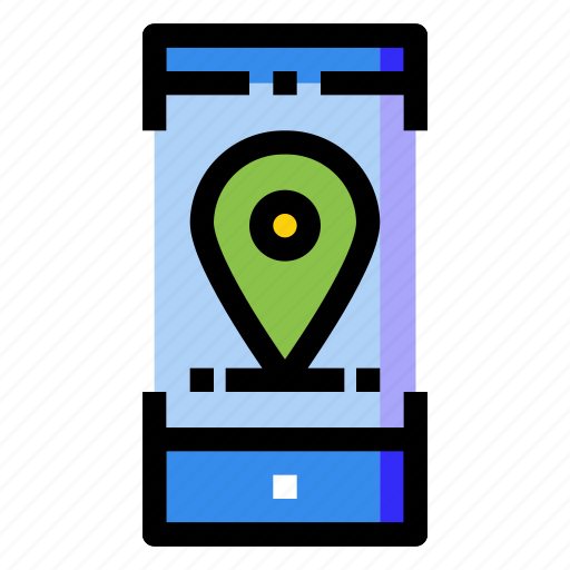 gps, location, mobile, online, phone, screen, smartphone icon