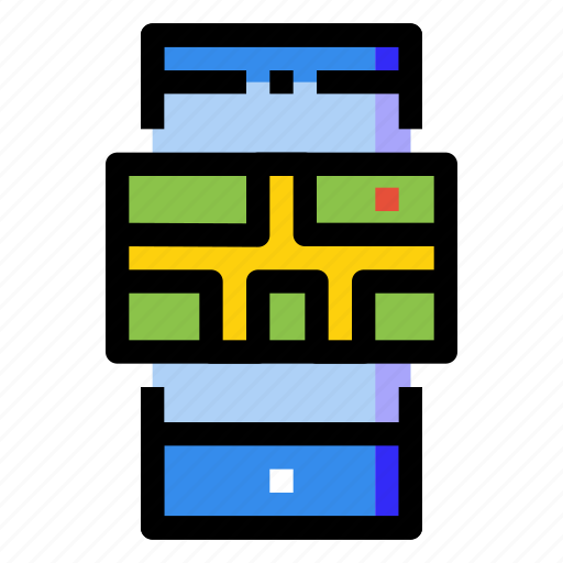 gps, location, map, mobile, online, phone, smartphone icon