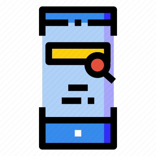 engine, mobile, online, optimization, phone, search, smartphone icon