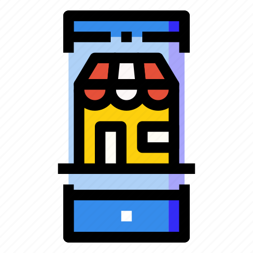 mobile, online, phone, retail, shop, smartphone, store icon
