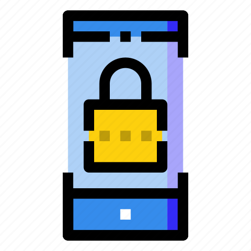 lock, mobile, phone, protect, security, smartphone icon