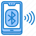 bluebooth, mobilephone, bluetooth, smartphone, mobile icon