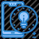 blub, light, mobile, mobilephone, smartphone icon