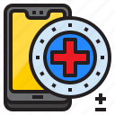 mobilephone, smartphone, medical, hospital, mobile icon