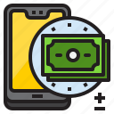 dollar, mobile, mobilephone, money, smartphone icon
