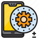 gear, mobile, mobilephone, setting, smartphone icon