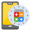 calculator, finance, mobile, mobilephone, smartphone icon