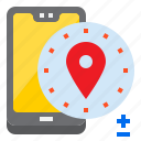 location, mobile, mobilephone, pin, smartphone icon