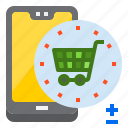 cart, mobile, mobilephone, shopping, smartphone icon