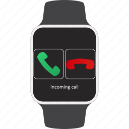 call, device, incoming, phone, smartwatch, wearable icon