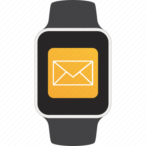 device, email, notification, smartwatch, wearable icon