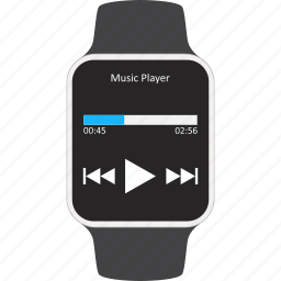 audio, device, multimedia, play, player, smartwatch, wearable icon
