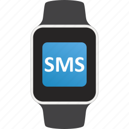 device, message, notification, smartwatch, sms, wearable icon