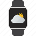 device, smartwatch, wearable, weather icon