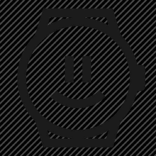 emoji, happy, smartwatch, smiley, watch icon