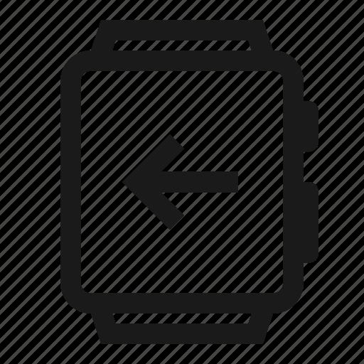 Arrow, left, smartwatch, swipe, watch icon - Download on Iconfinder