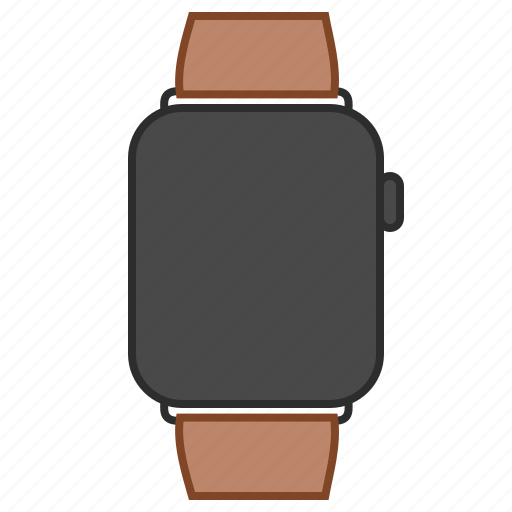 apple, apple watch, brown, iwatch, smartwatch, watch icon