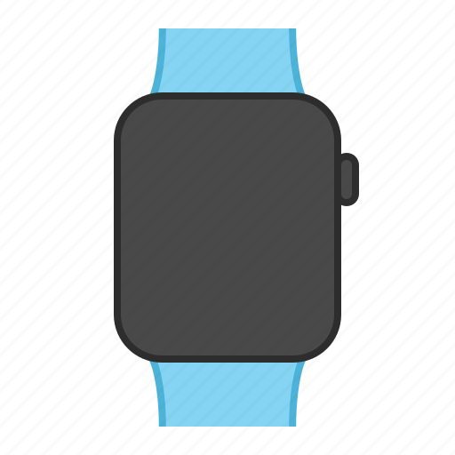 apple, apple watch, blue, blue band, iwatch, sport, watch icon