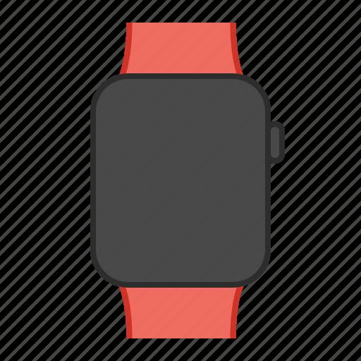 apple, apple watch, iwatch, orange, orange band, sport, watch icon