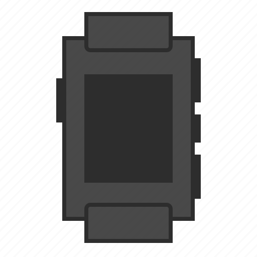 black smartwatch, pebble, pebble watch, smartwatch, watch icon