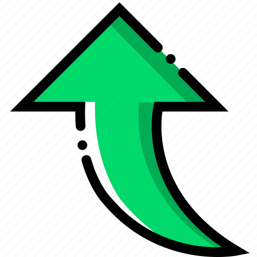 arrow, direction, orientation, upward icon