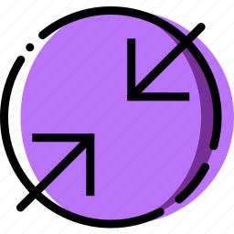 arrow, compress, direction, orientation icon