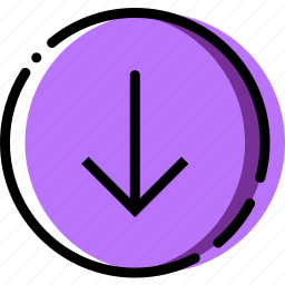 arrow, direction, down, orientation icon