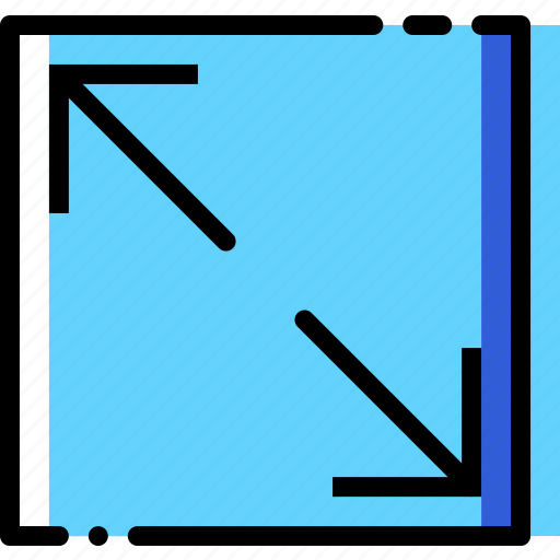 arrow, diagonal, direction, expand, orientation icon