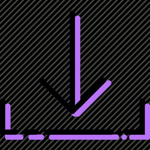 arrow, direction, download, orientation icon