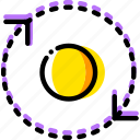 around, arrow, direction, orbit, orientation icon