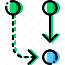 alternative, arrow, direction, orientation, symbiosis icon