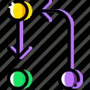arrow, cycle, direction, orientation, transfer