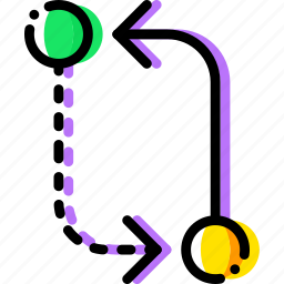 alternative, arrow, circuit, direction, orientation icon