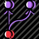 arrow, direction, multiply, object, orientation