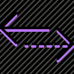 alternative, arrow, direction, horizontal, orientation icon