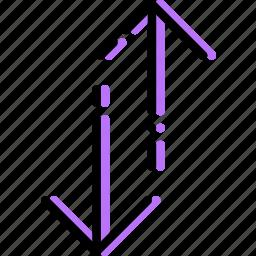 arrow, both, direction, orientation, vertical, ways icon