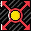 arrow, direction, expand, orientation