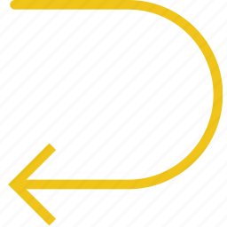 arrow, direction, orientation, return icon