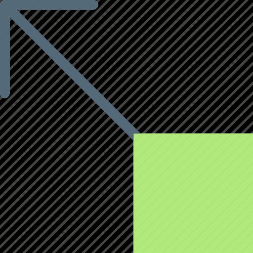 arrow, direction, drag, lft, orientation, top icon
