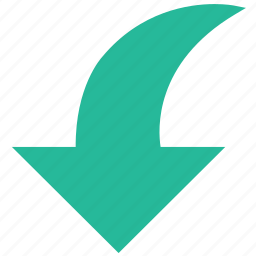 arrow, direction, downward, orientation icon
