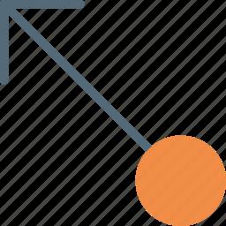 arrow, direction, drag, left, orientation, top icon