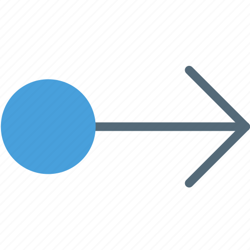 arrow, direction, drag, object, orientation, right icon