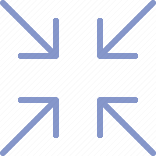 arrow, direction, minimize, orientation icon