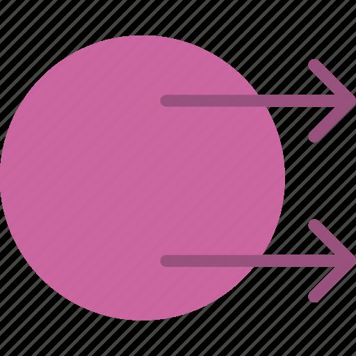 arrow, direction, orientation, transfer icon