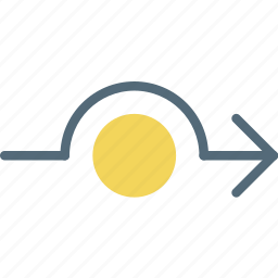 around, arrow, detour, direction, orientation icon