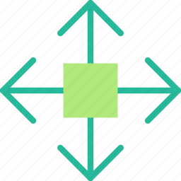 arrow, direction, move, object, orientation icon