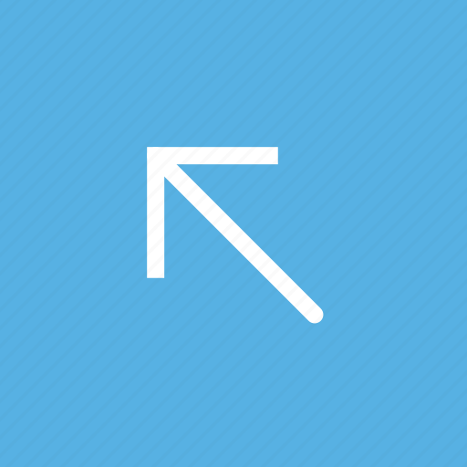 arrow, diagonal, direction, left, orientation, up icon
